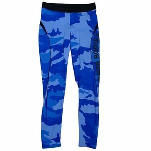 Better Bodies Capri Leggings Blue Camouflage Small